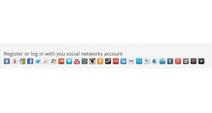 Авторизация и регистрация через соц сети - Ulogin