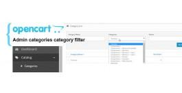 Фильтр товаров по категориям для админ панели