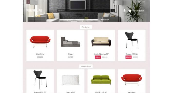 Многофункциональный шаблон Opencart для мебели