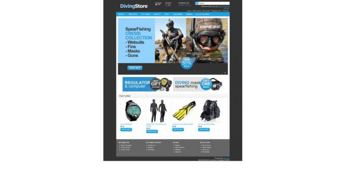 OpenCart Template ocfree001 Diving